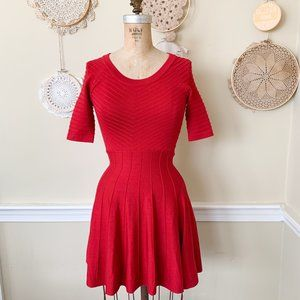 Candie's Juniors Fit & Flare Red Sweater Dress XS